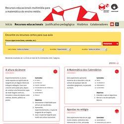 Coleção de recursos educacionais – Matemática multimídia