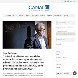 """José Pacheco: """"Não é aceitável um modelo educacional em que alunos do século XXI são «ensinados» por professores do século XX, com práticas do século XIX"""" – canal C"""
