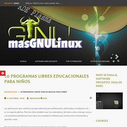 10 Programas libres educacionales para niños – masGNULinuX