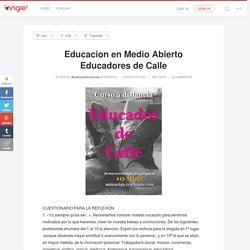Educacion en Medio Abierto Educadores de Calle - Animacioncursos