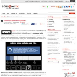 Animoto pro gratis para educadores