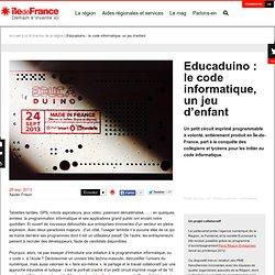 Educaduino : le code informatique, un jeu d'enfant