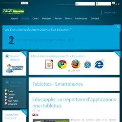 Educapplis : un répertoire d'applications pour tablettes