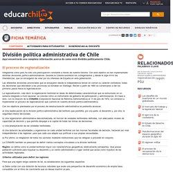 Division politica administrativa de Chile