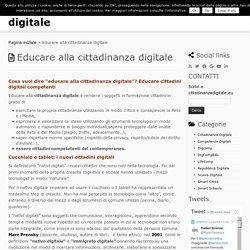 Educare alla cittadinanza digitale – cittadinanza digitale