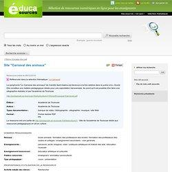 """Site """"Carnaval des animaux"""""""