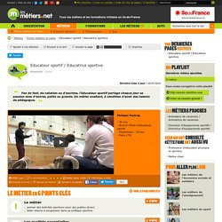 Educateur sportif / Educatrice sportive