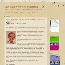 [COMPTE-RENDU] Une éducation sans violence : pourquoi et comment ?