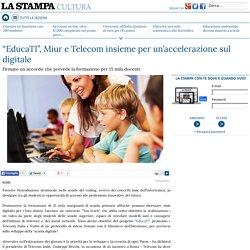 """EducaTI"", Miur e Telecom insieme per un'accelerazione sul digitale"