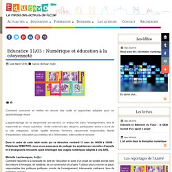 Educatice 11/03 : Numérique et éducation à la citoyenneté