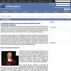 Le Big Data éducatif ausculté au Campus Européen d'été de l'Université de Poitiers