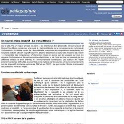 Un nouvel enjeu éducatif : La translittératie ?