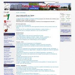 Jeux éducatifs en ligne - [Collège Jean Macé Mulhouse]