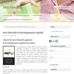 Jeux éducatifs et développement cognitif -
