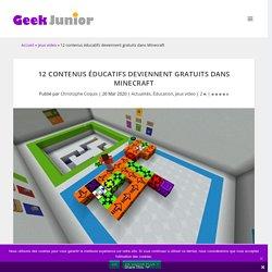 La pépite du 15 avril : 12 contenus éducatifs deviennent gratuits dans Minecraft : énergie, oeil, logique, mythologie...