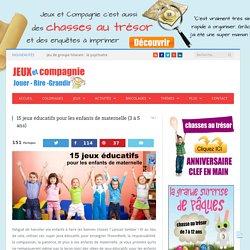 15 jeux éducatifs pour les enfants de maternelle (3 à 5 ans)