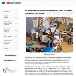 Des projets éducatifs de réalité virtuelle entre la France et le Canada ! – francecanadaculture
