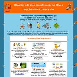 Sites éducatifs gratuits pour le préscolaire et le primaire - matières