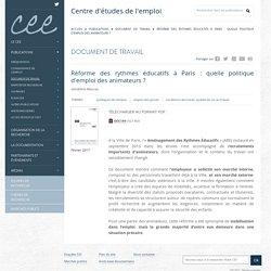 Réforme des rythmes éducatifs à Paris : quelle politique d'emploi des animateurs ?