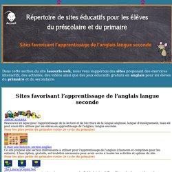 Sites éducatifs pour le préscolaire et le primaire - anglais