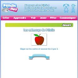 Les jeux éducatifs de Ptitclic pour les enfants : les mémorys de Ptitclic - Fruits et légumes