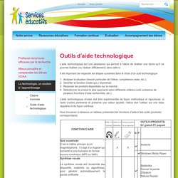 Services Éducatifs » Outils d'aide technologique