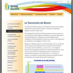 Services ÉducatifsLa Taxonomie de Bloom - Services Éducatifs
