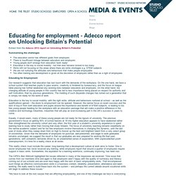 Educating for employment - Adecco report on Unlocking Britain's Potential
