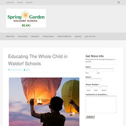 Educating The Whole Child in Waldorf Schools - SGWS Blog
