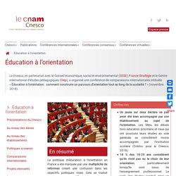 CNESCO Éducation à l'orientation
