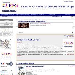 Éducation aux médias - CLEMI Académie de Limoges