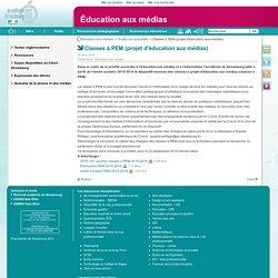 Classes à PEM (projet d'éducation aux médias) - Éducation aux médias
