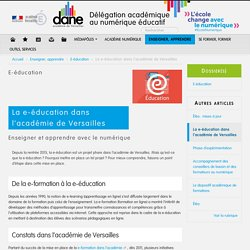 La e-éducation dans l'académie de Versailles
