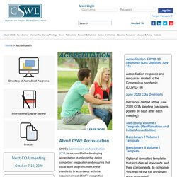 Council on Social Work Education (CSWE) - Accreditation