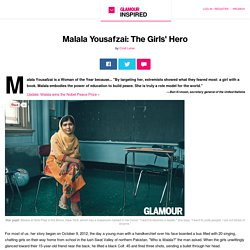 Women's Rights and Education Activist Malala Yousafzai is a Glamour Woman of the Year for 2013: Glamour.com