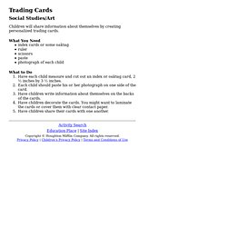 Education Place Activity: Trading Cards