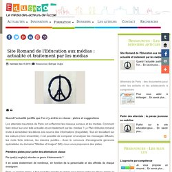 Site Romand de l'Education aux médias : actualité et traitement par les médias