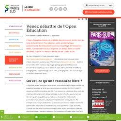 Open Education - L'actualité à l'Université Paris-Sud