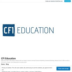 CFI Education – Advance Excel & Vba Provider Classes In Delhi