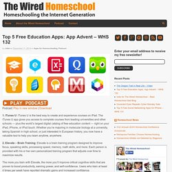 Top 5 Free Education Apps: App Advent – WHS 132