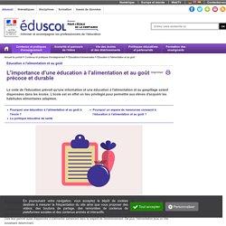 Éducation à la nutrition - L'importance d'une éducation nutritionnelle