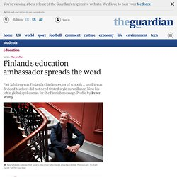 Finland's education ambassador spreads the word