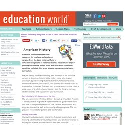 Education World: Sites to See: American History
