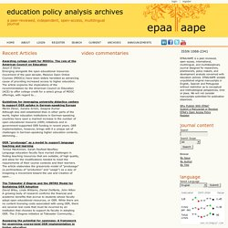 education policy analysis archives (Scopus Q2)
