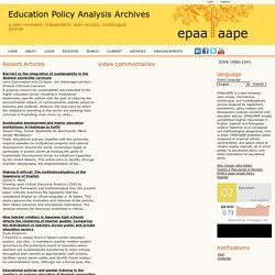 education policy analysis archives