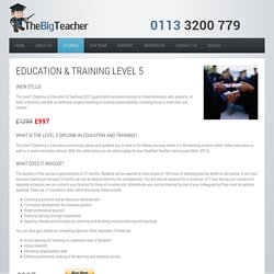 Education and Training Level 5