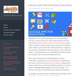 Google Apps For Education. Una guida