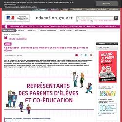 Co-éducation : annonces de la ministre sur les relations entre les parents et l'École