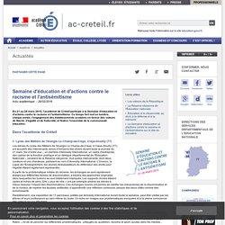 Semaine d'éducation et d'actions contre le racisme et l'antisémitisme - ac-creteil.fr