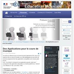Éducation musicale - Des Applications pour le cours de musique
